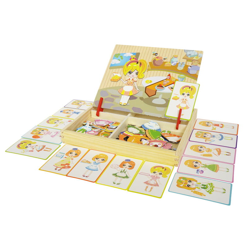 Kitchen Girl Change Magnetic Puzzles Character Dress Up Toy Learning Game
