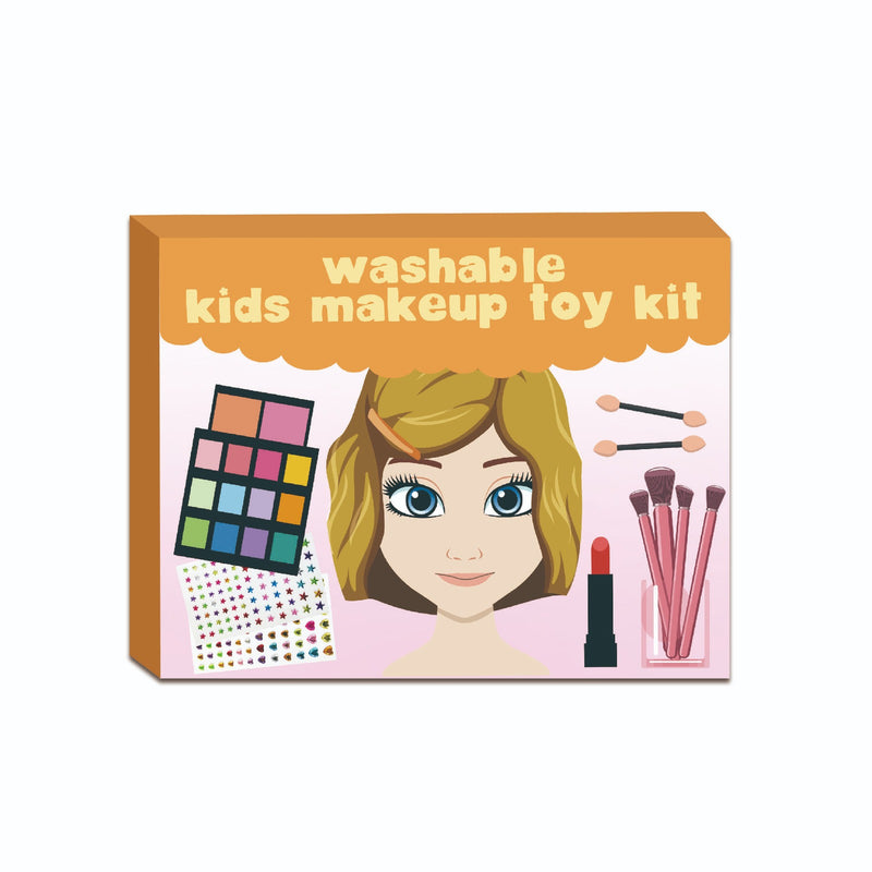 Girl's Teen Washable Makeup Toy Kit Portable Pretend Play Styling Beauty Fashion Face Cosmetics Set