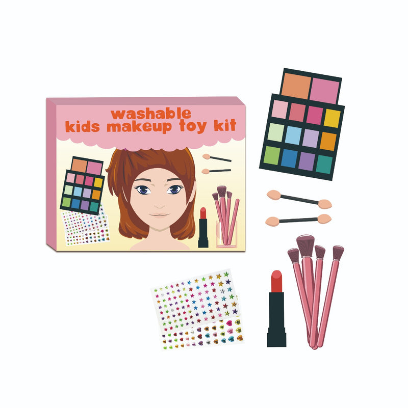 Washable Kid's Face Makeup Toy Set Pretend Play Color Pallete Beauty Cosmetics Kit