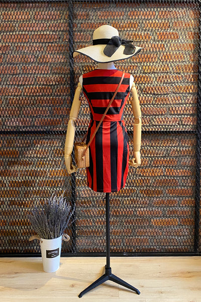 DT0020 Stripes Pencil dress -  Orange