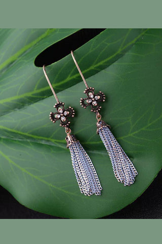 DT003E Floral Drop Earring - Copper