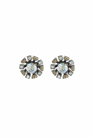 DT053E - Statement Crystal Earrings - White