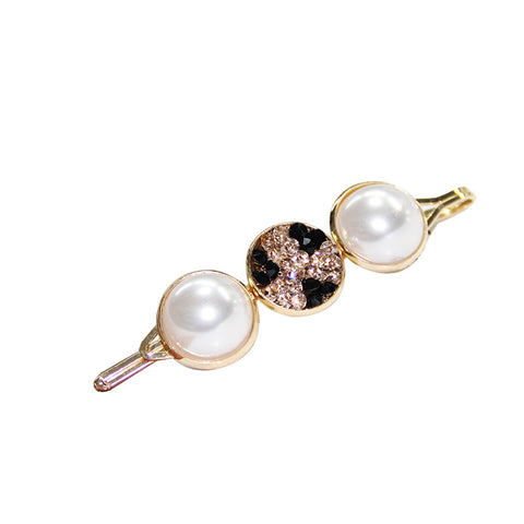 DT065E - Crystal with White Pearl Hair Accessories - Multi