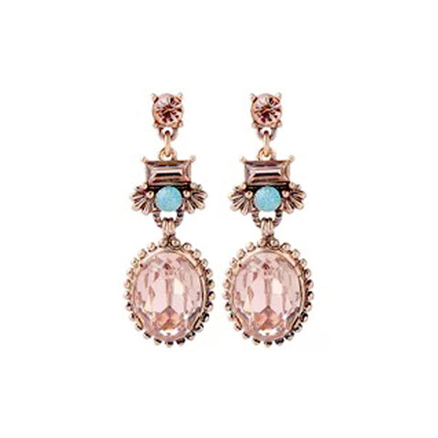 DT089E - Crystal Earring - Orange