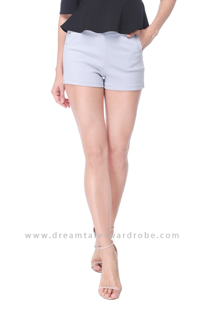 DT1119 High Waist Shorts - Blue
