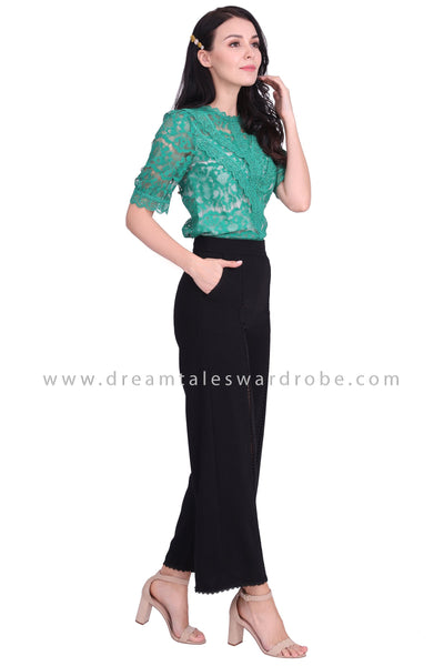 DT1595 French Lace Top - Green