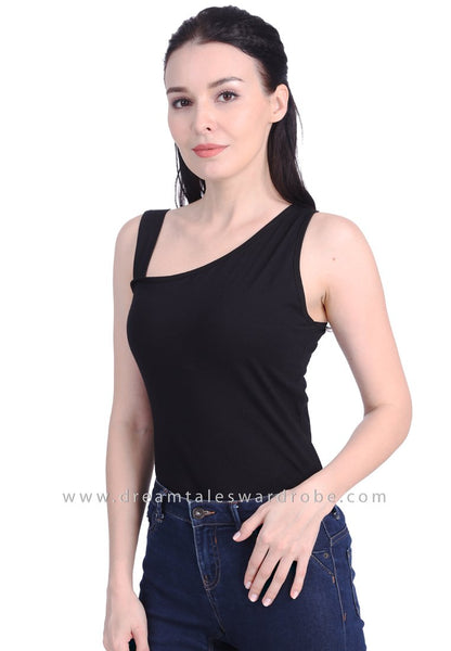 DT1738 Asymmetric Top - Black