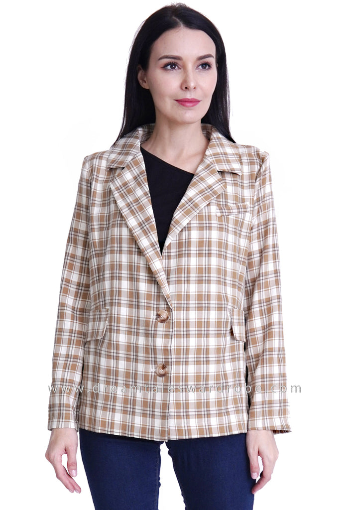 DT1791 Checkered Jacket - Yellow