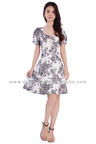 DT1880 Sweetheart Lace Dress - Gray