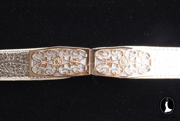DT020A Floral Craft Buckle Belt- Gold