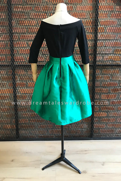 DT0277 Shoulder Off Midi Dress - Green