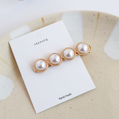 DT062E Style Pearl Statement Hair Accessories - White