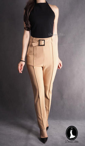 DT0829 DuoTone Cut-In Jumpsuit - Khakis