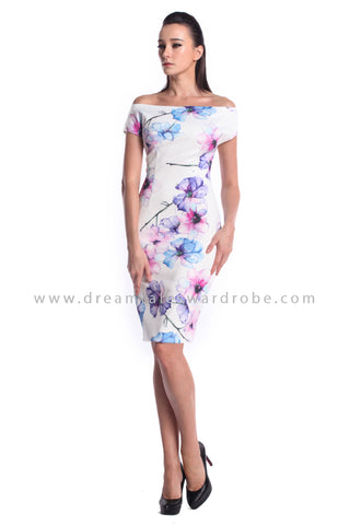 DT0979 Bardot Floral Dress - Floral (DreamTales Exclusive)