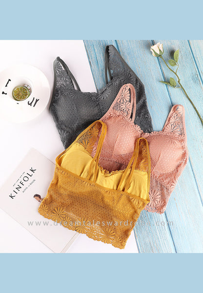 DTB105 LC Crop Top Bra - Mustard Yellow