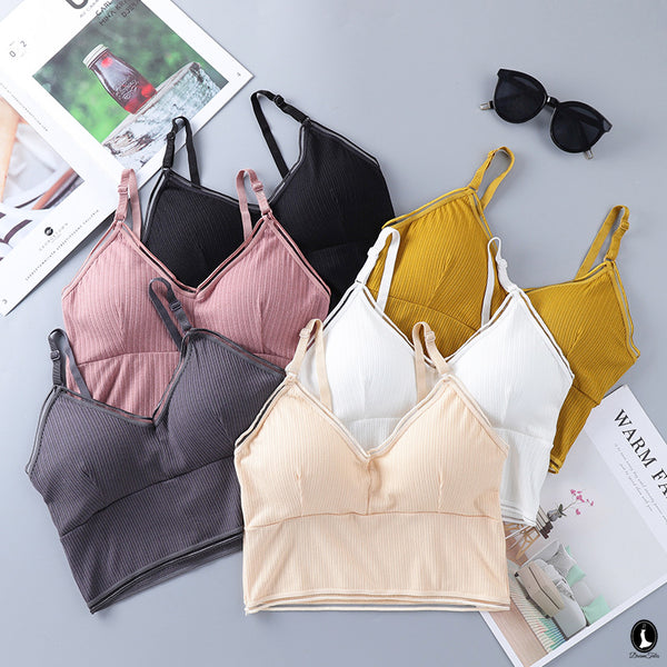 DTB108 LC Crop Top Bra - Mustard Yellow