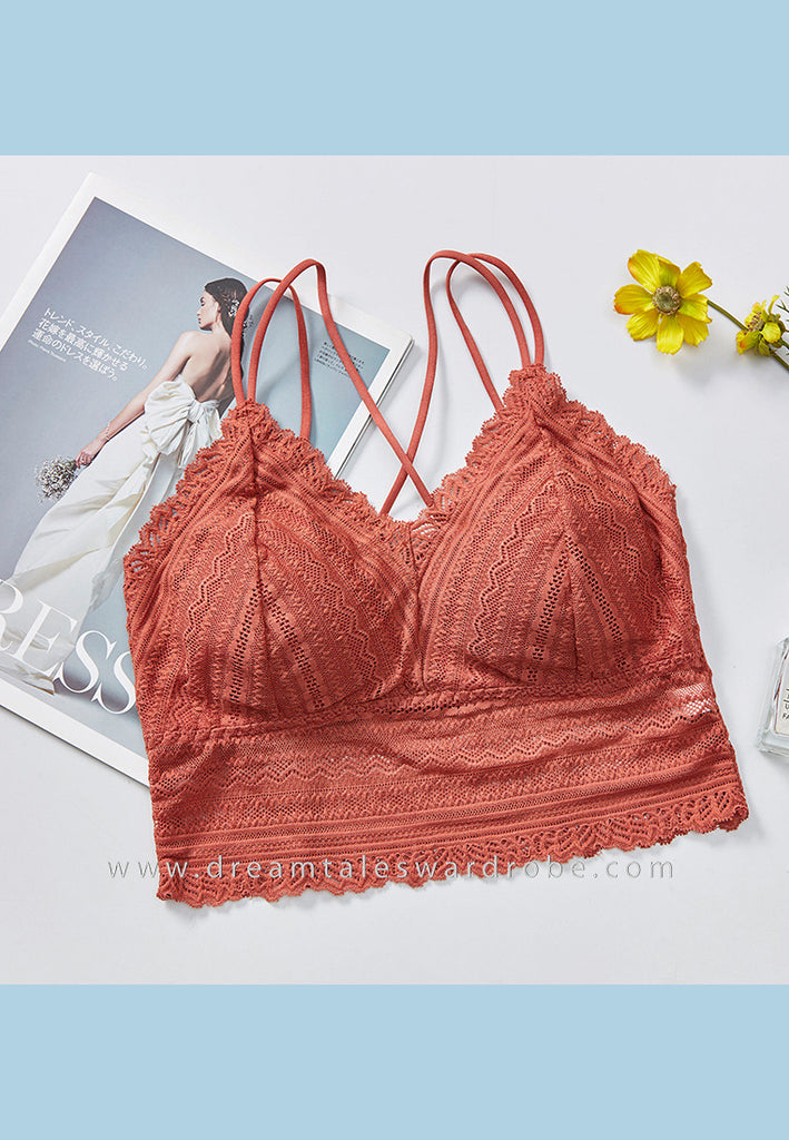 DTB109 LC Crop Top Bra - Rust Orange