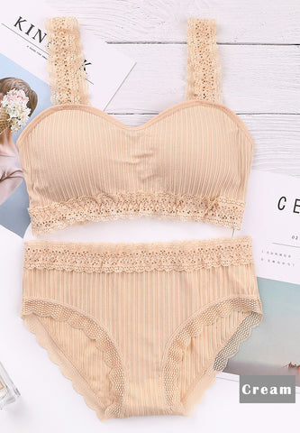 DTB116 Comfy Lace Trim Set - Cream