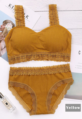 DTB116 Comfy Lace Trim Set - Yellow