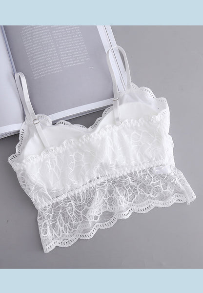 DTB119 Floral LC Top Bra - White