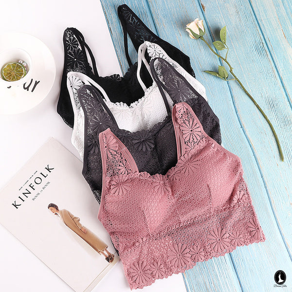 DTB105 LC Crop Top Bra - Dusty Pink