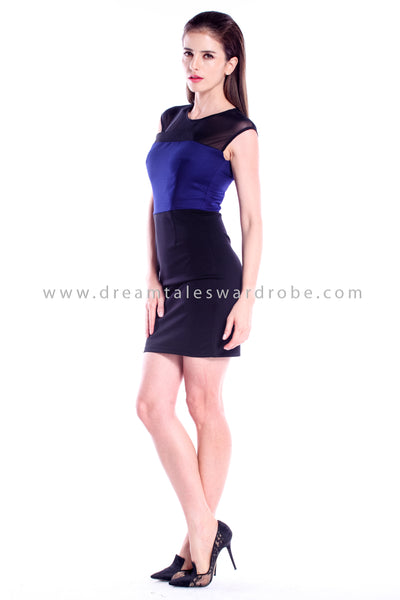 DT0839 DuoWay Dress With Detachable Skirting - Blue