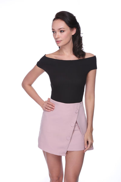 DSP003 - Wrap Skirt Shorts - Pink