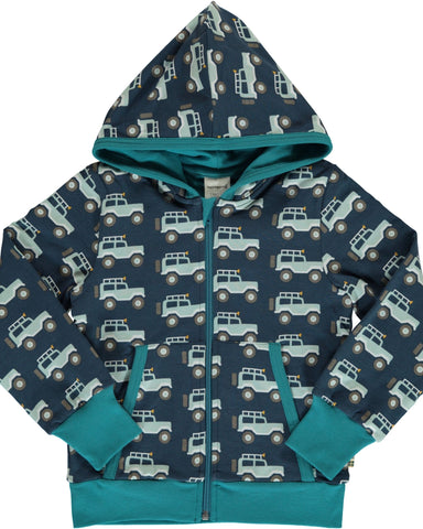Maxomorra cardigan hoodie jeep adventure