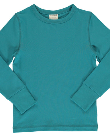 Maxomorra long sleeve effen groen