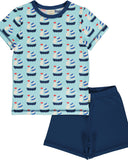 Maxomorra pyjama zeilboot blauw SAILBOAT