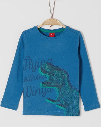 SOliver longsleeve dino blauw