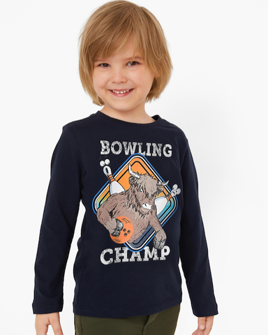 Soliver long sleeve bowling champ 31.2705 blauw