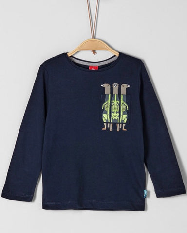 Soliver long sleeve stokstaart blauw