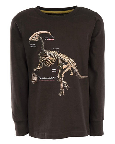 Stones and bones long sleeve Tougher PARASAUROLOPHUS donkerbruin coffee
