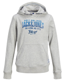 jack and jones hoodie grijs junior 12178701 cool grey