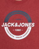 jack and jones jongen sweater 12167674 rio red