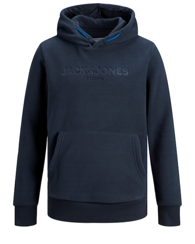 jack and jones junior hoodie fleece blauw 12177515