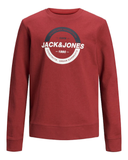 jack and jones junior sweater 12167674 rio red