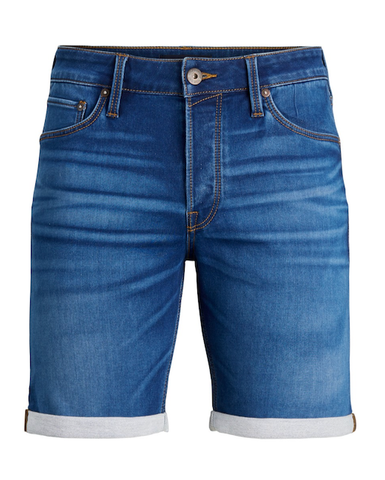 jack and jones short slim jeans blauw jogjeans 12183125