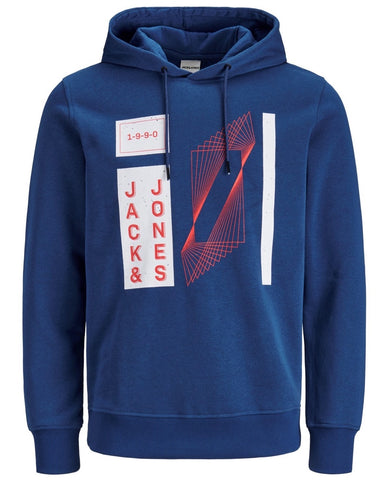 jack and jones sweater hoodie kap blauw 12177792