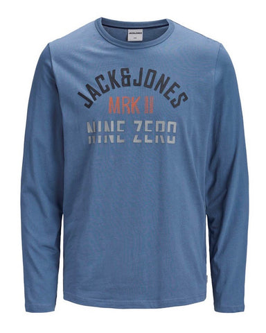 jack and jones tshirt lange mouwen blauw 12159245
