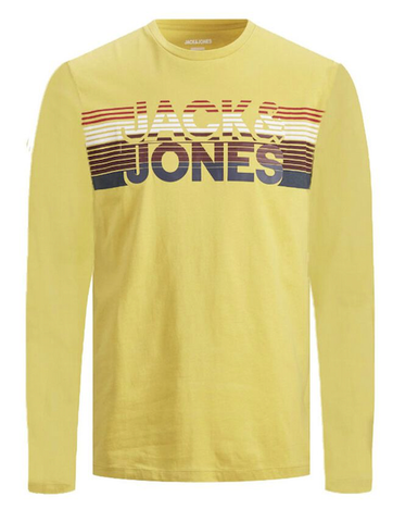 jack and jones junior long sleeve blauw 12179782 Spicy Mustard