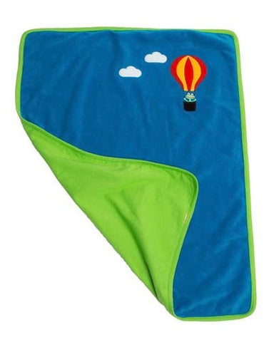 lipfish deken blauw kikker luchtballon polar fleece