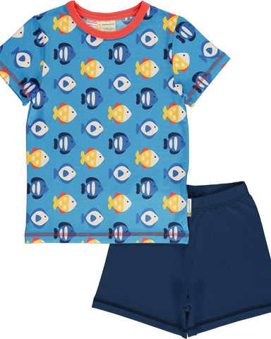 maxomorra Pyjama vis TROPICAL AQUARIUM blauw
