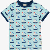 maxomorra tshirt blauw SAILBOAT