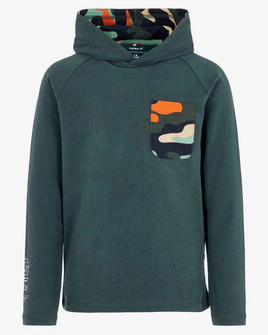 name it hoodie sweater kap groen 13169487