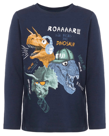 name it long sleeve dino blauw 13168968 jongen