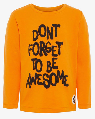 nameit longsleeve oranje awesome