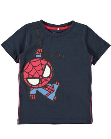 Short sleeve spiderman