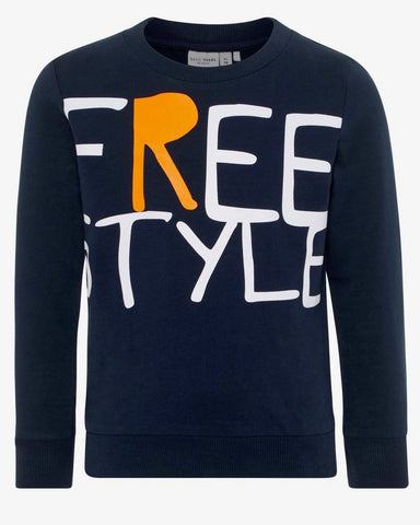 nameit sweater blauw freestyle